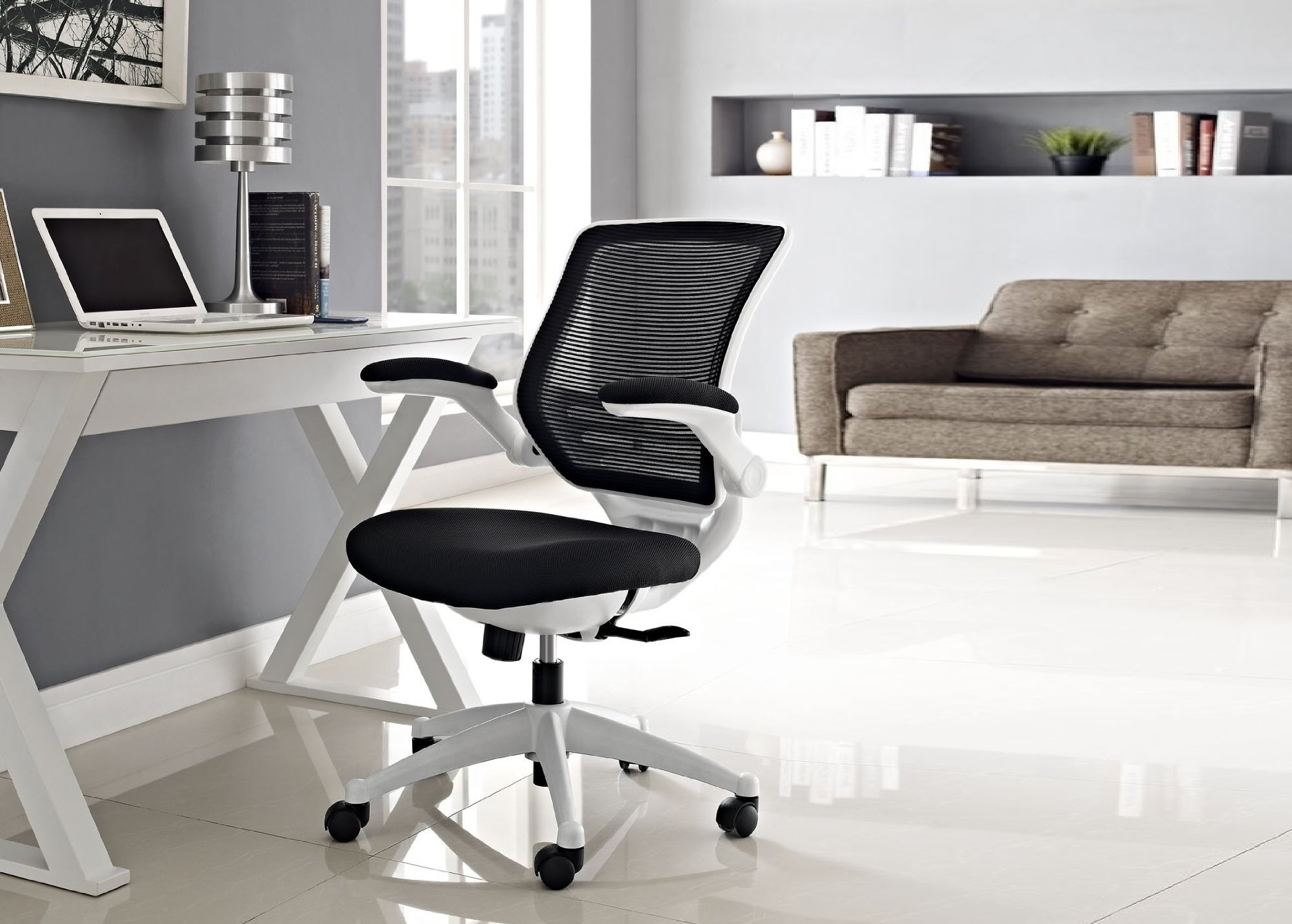Ergonomic White Office Chair -