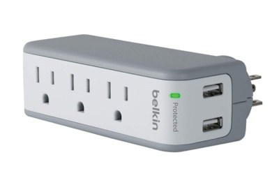 Belkin-SurgePlus-3-Outlet-Mini-Travel-Swivel-Charger-Surge-Protector